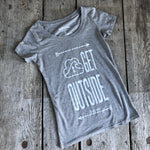 BAMBOO SCOOP-NECK TEE 'GET OUTSIDE' - Women's