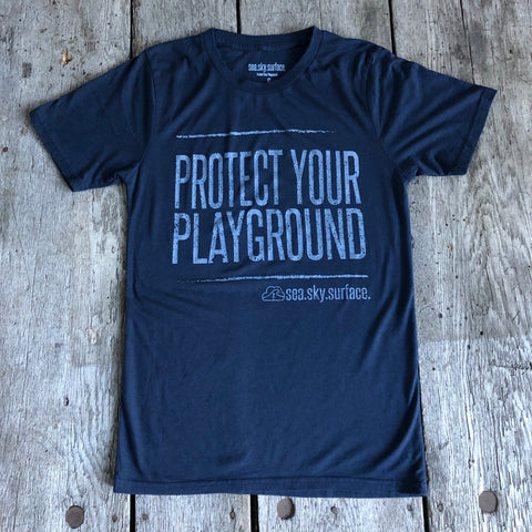 BAMBOO TEE 'PROTECT YOUR PLAYGROUND' - Men's