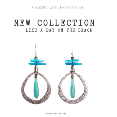 N°629 The Ocean at the End of the Road Statement Earrings