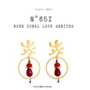 N°651 When Coral Love Arrives Statement Earrings