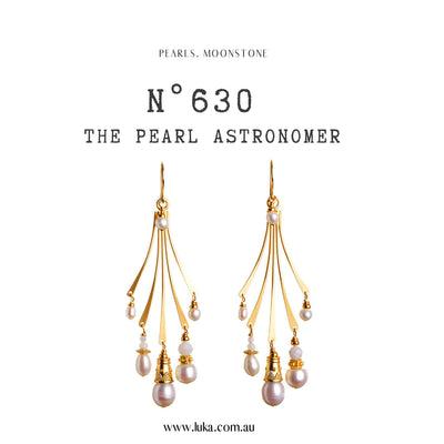 N°630 The Pearl Astronomer Statement Earrings