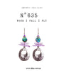 N°635 When I fall I fly Statement Earrings