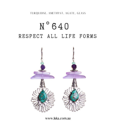 N°640 Respect all Life Forms Statement Earrings