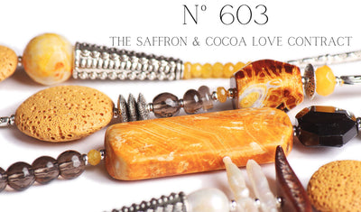 N°603 The Saffron & Cocoa Love Contract Statement Necklace