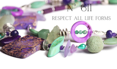N°611 Respect All Life Forms Statement Necklace