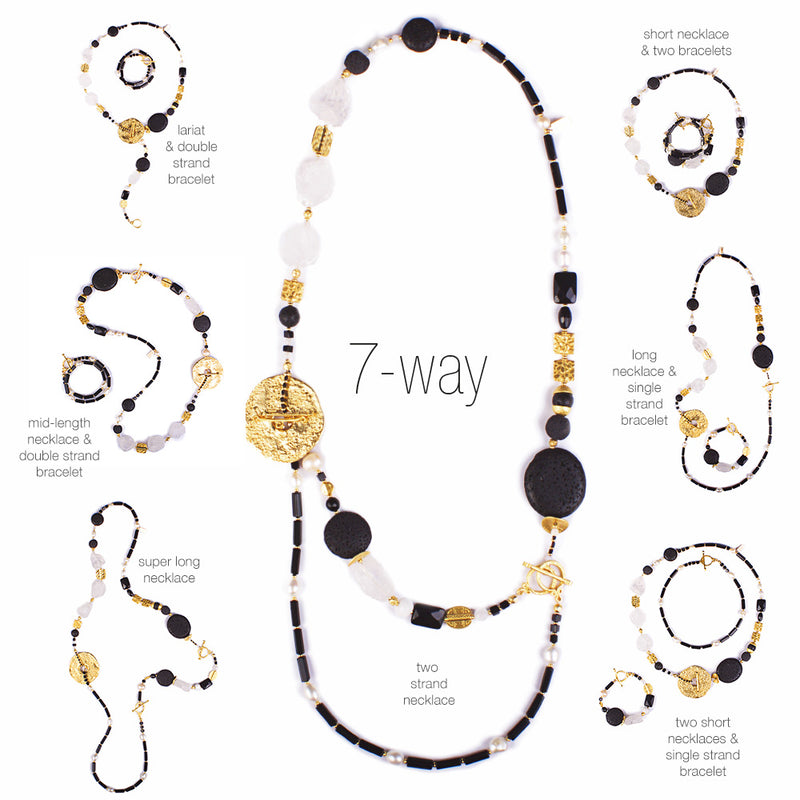The Nocturnal Wanderlust 7-way Statement Necklace