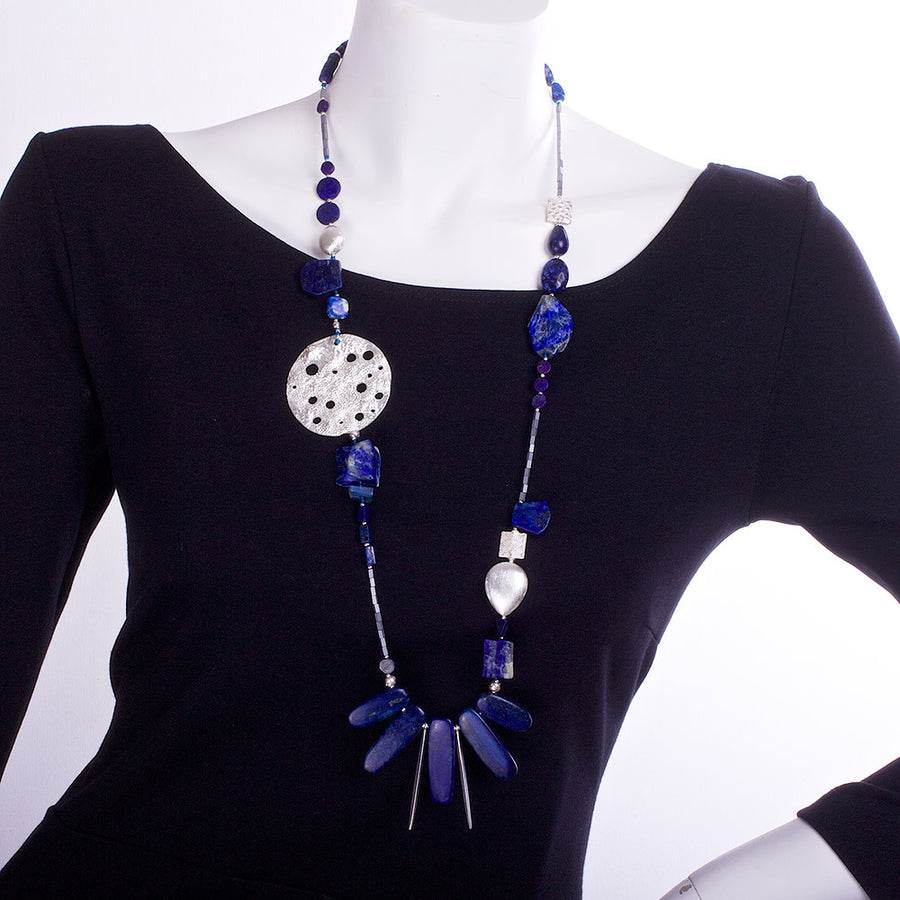 The Lapis Lazuli Bank Robber Statement Necklace