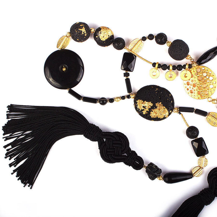 Golden Night Rider Statement Necklace