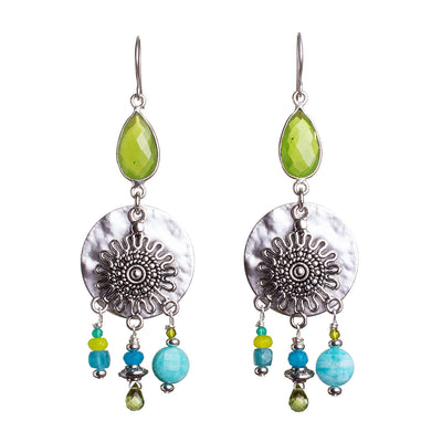 N°699 The Elegant Chartreuse Universe Statement Earrings
