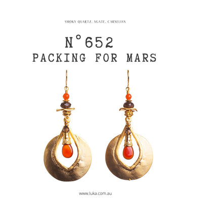 N°652 Packing for Mars Statement Earrings