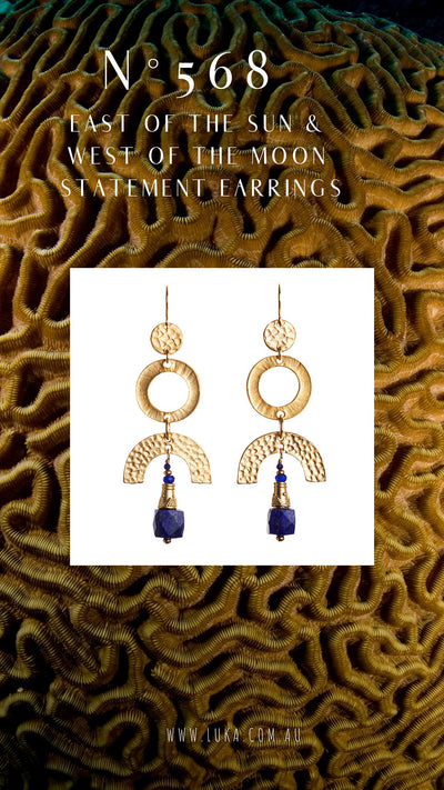 N°568 East of the Sun & West of the Moon Statement Earrings