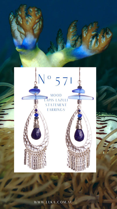 N°571 Mood Lapis Lazuli Statement Earrings