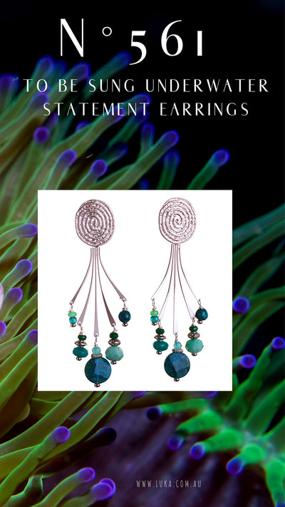 N°561 To be Sung Underwater Statement Earrings