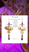 N°572 The Untold Story of the Amethyst Lovers League Statement Earrings