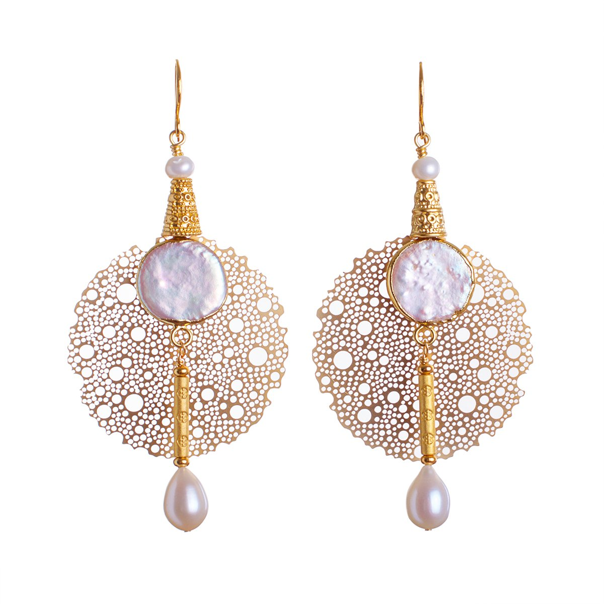 Dining Out Around the Pearl Solar System Statement Earrings
