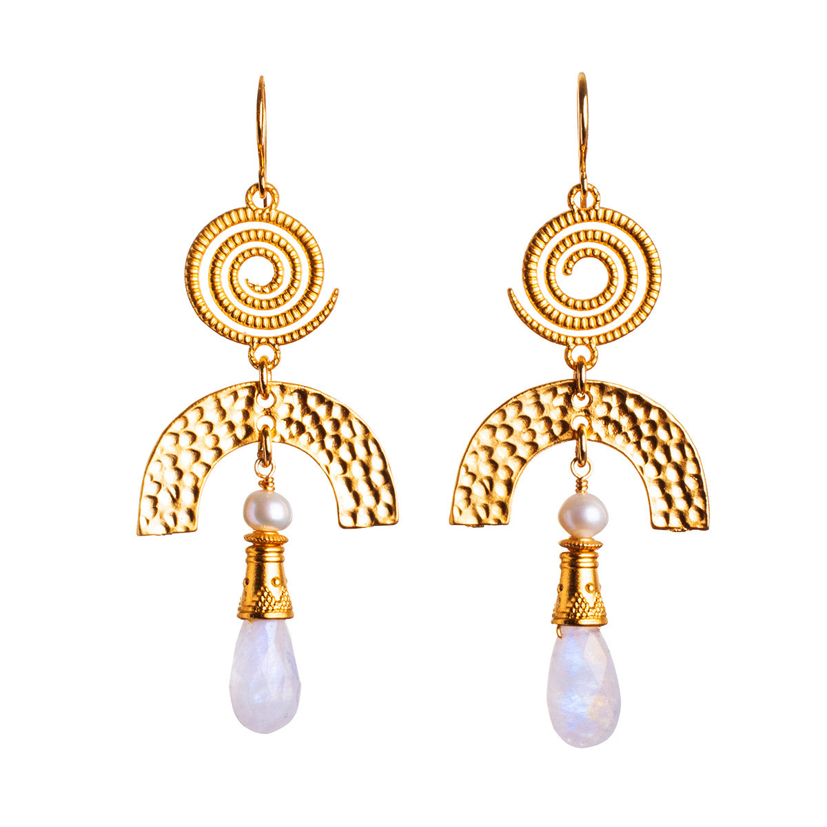 N°656 The Delicious Moonstone Umbrella Statement Earrings