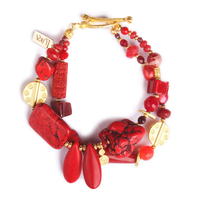 N°491 The 39 Shades of the Red Planet Statement Bracelet