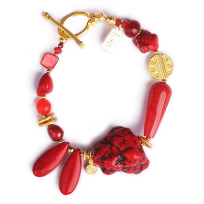 N°492 The 39 Shades of the Red Planet Statement Bracelet