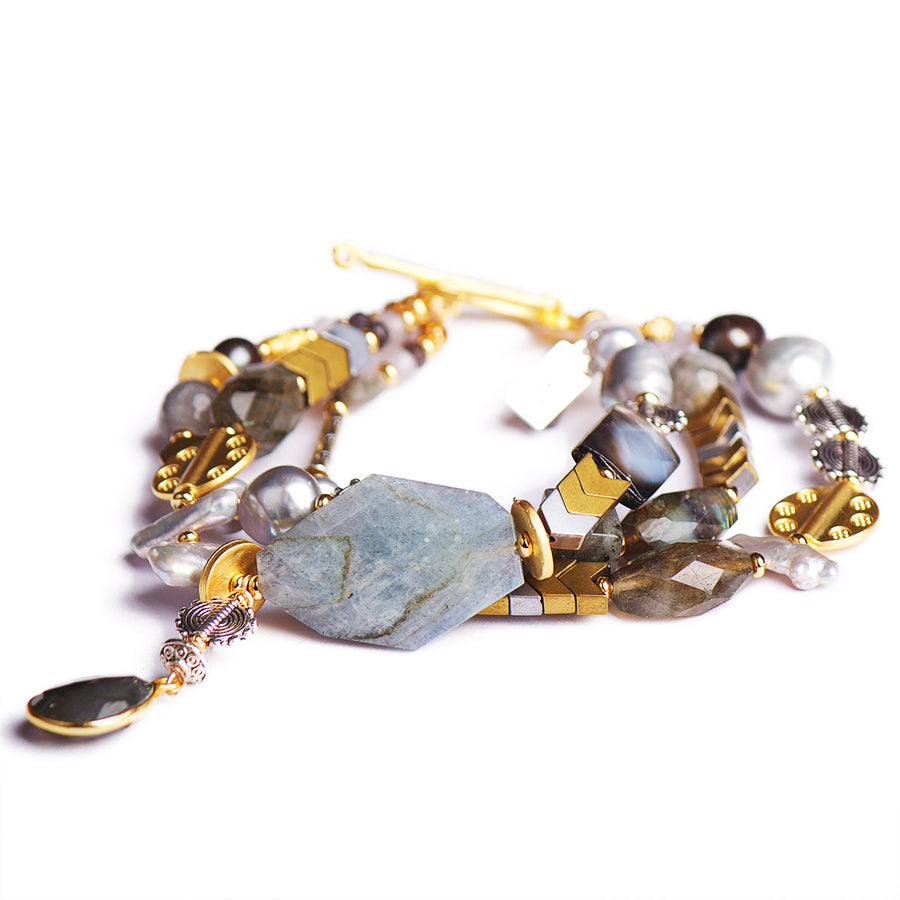 N°505/506/507 The Labradorite Chain Reaction Statement Bracelet