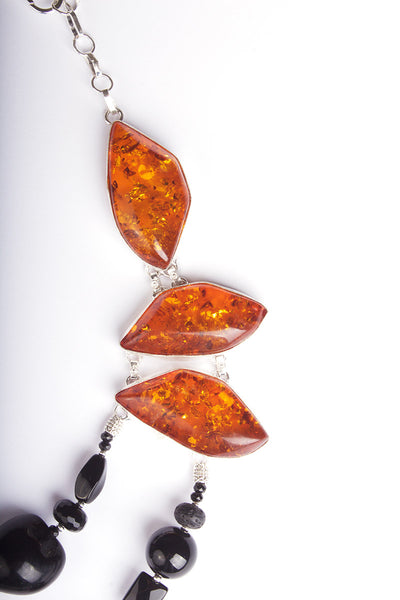 N°459 The Secret Lives of Amber & Lava Statement Necklace