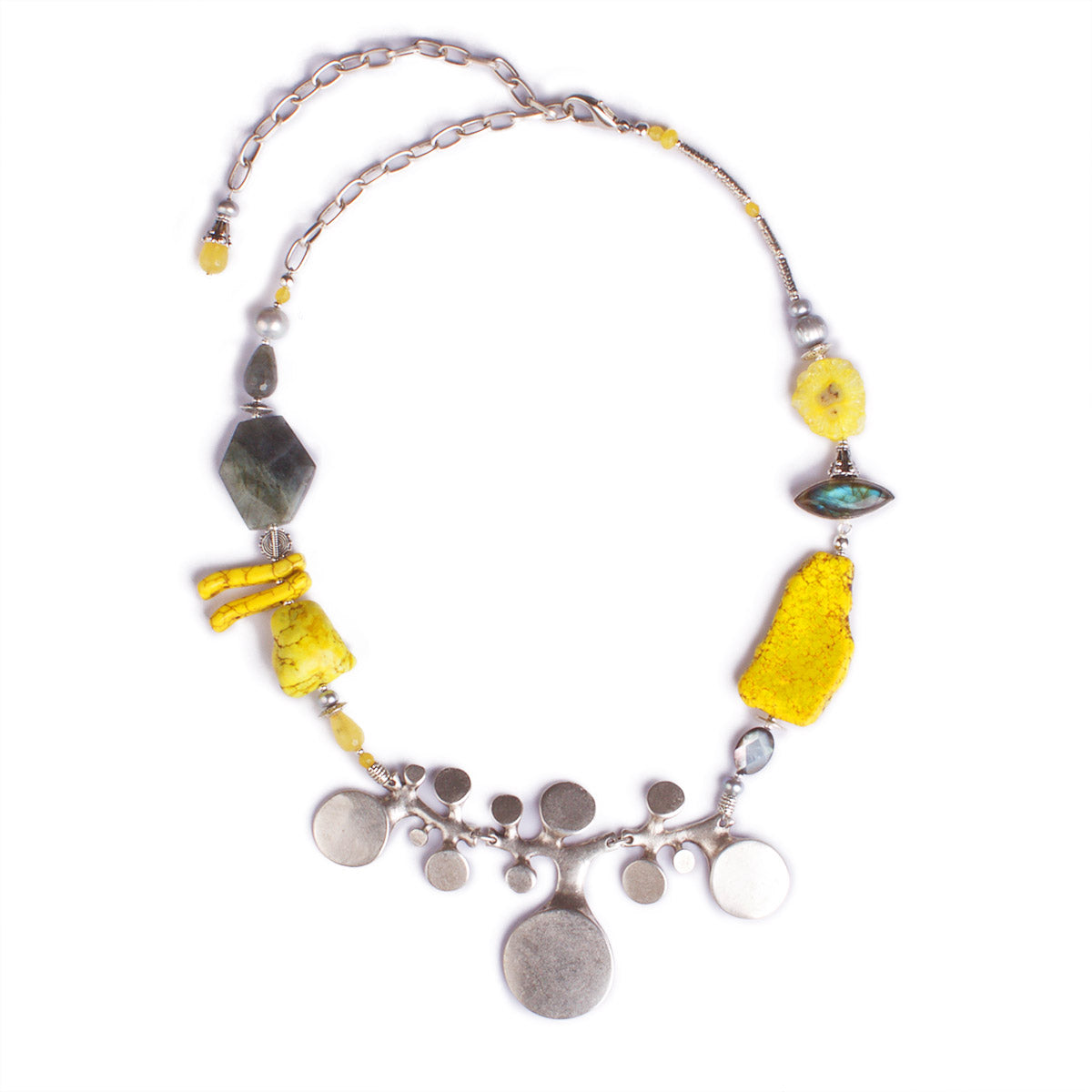 N°462 The Sunkissed 5th Dimension Statement Necklace