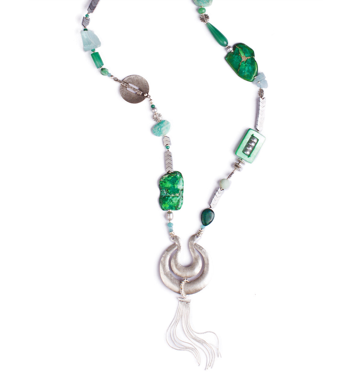 N°452 The Emerald Ink Wunderkind Statement Necklace