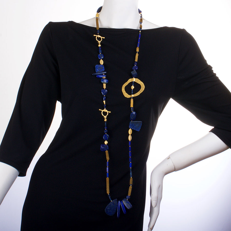 N°454 The Great Lapis Lazuli Escape Statement Necklace