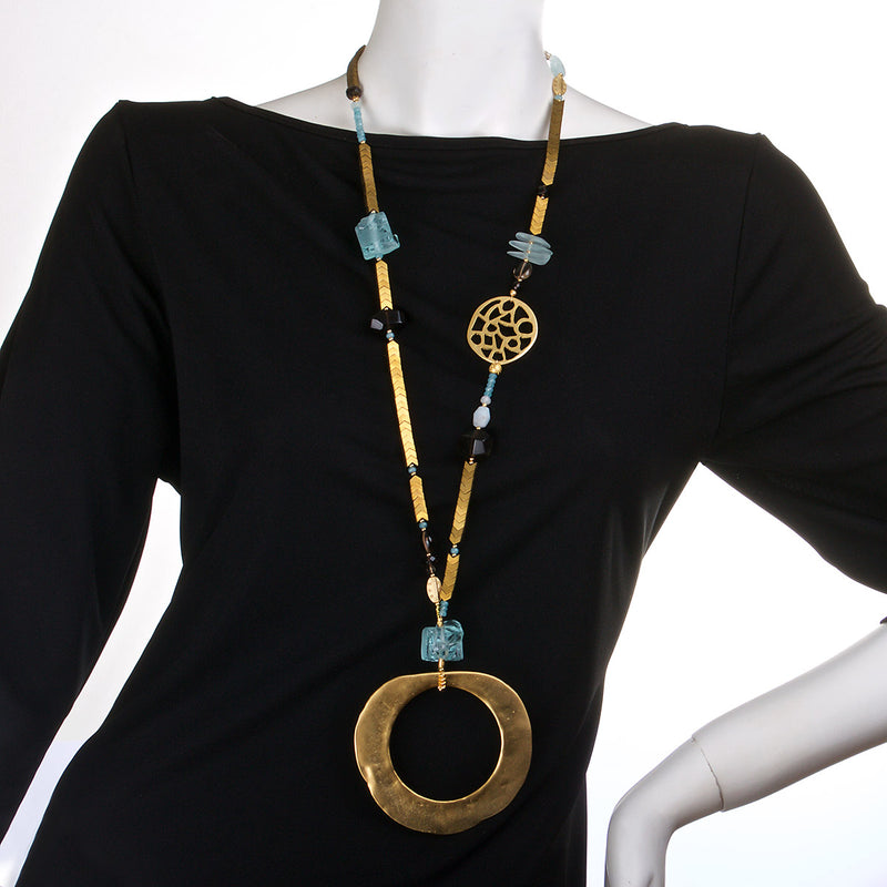 N°445 The Antarctic Fortune Teller Statement Necklace