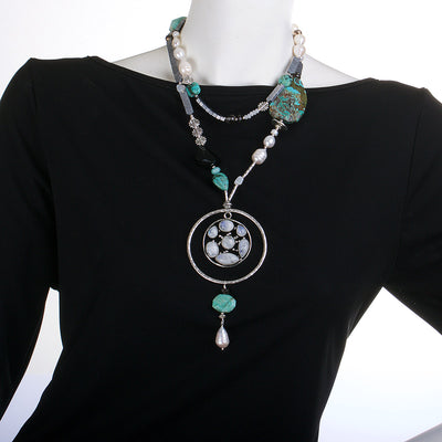N°446 The Spirited Moonstone Shelter Statement Necklace