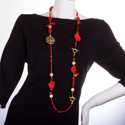 N°448 The 39 Shades of the Red Planet Statement Necklace