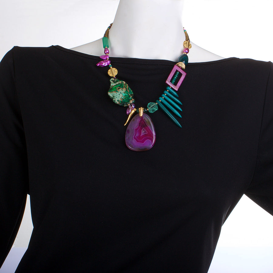 N°451 The Coral Reef Survival Instinct Statement Necklace