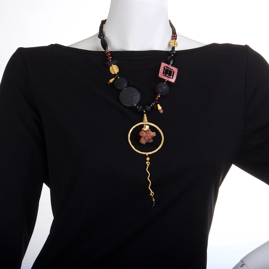 N°463 The Traveller to the Centre of Life Statement Necklace