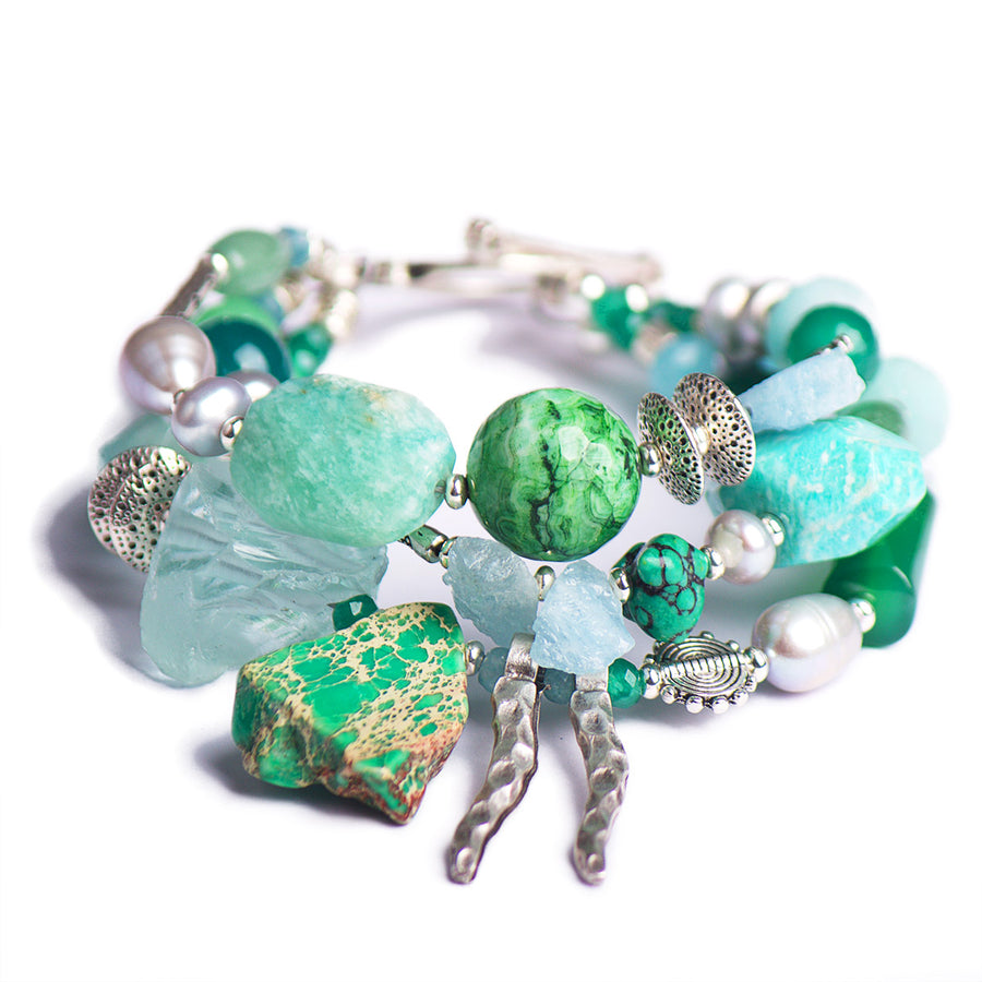 N°502/503/504 The Emerald Ink Wunderkind Statement Bracelet