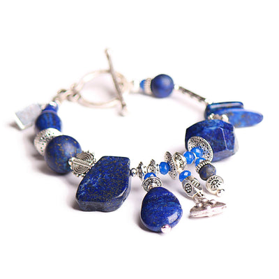 N°556 The Lapis Lazuli Simplicity Contract Statement Bracelet