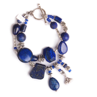 N°555 The Lapis Lazuli Simplicity Contract Statement Bracelet