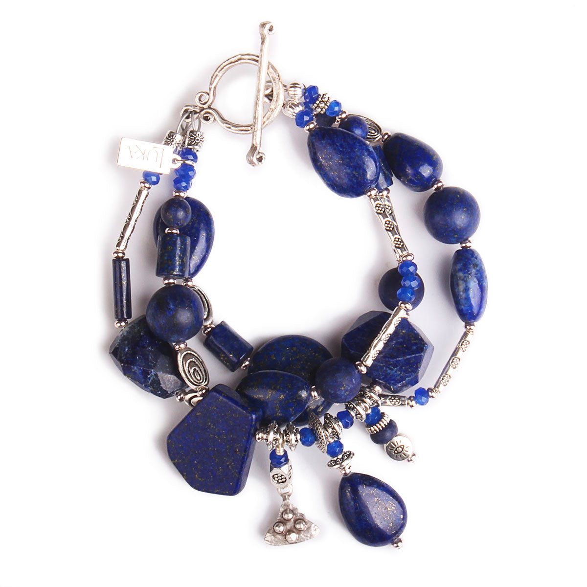 N°554 The Lapis Lazuli Simplicity Contract Statement Bracelet