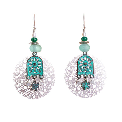 N°691 The Benign Turquoise Wave Thief 2 Statement Earrings