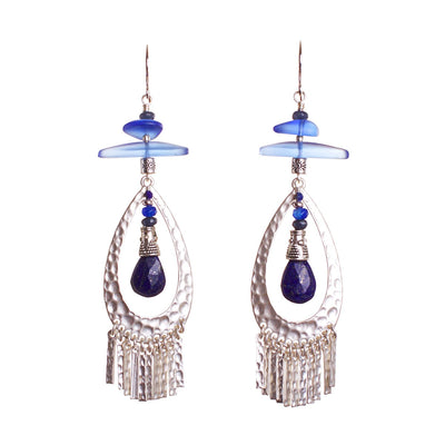 Mood Lapis Lazuli Statement Earrings