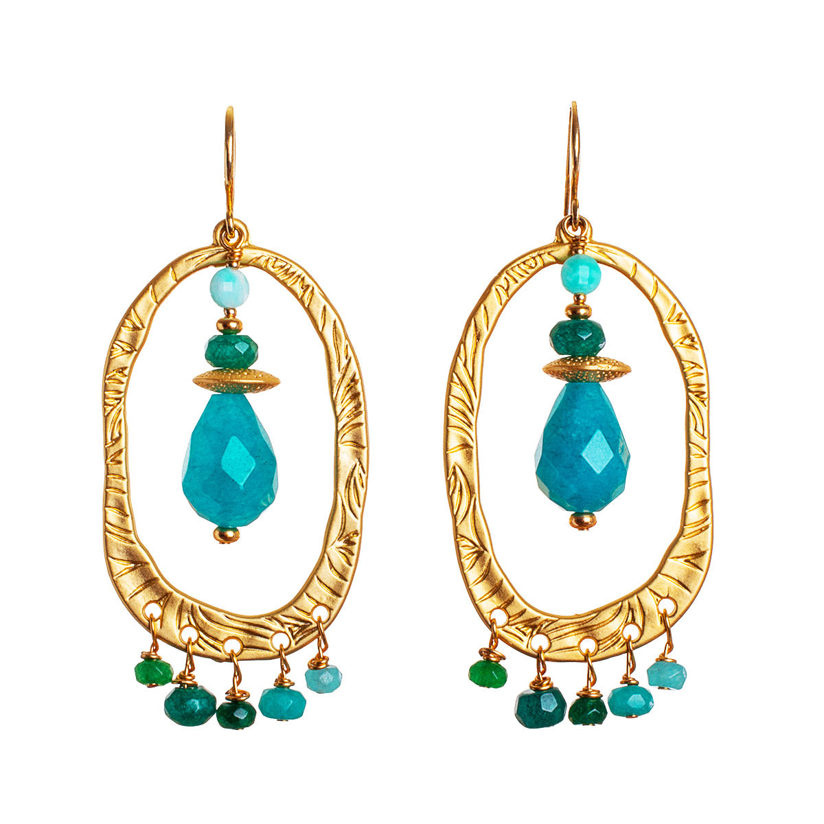 N°671 The Living Sea of Turquoise Dreams Statement Earrings