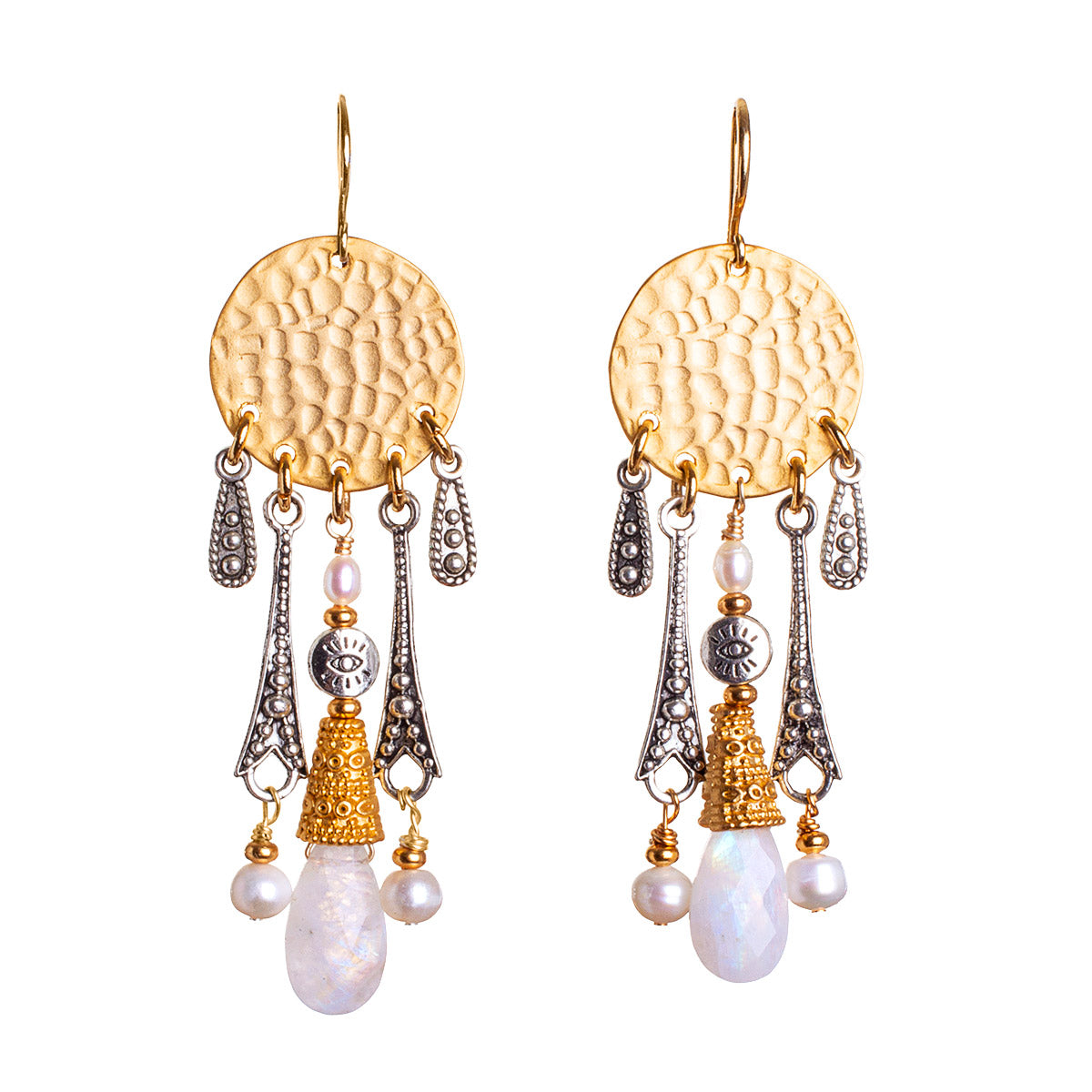 N°675 Living on Moontime Statement Earrings