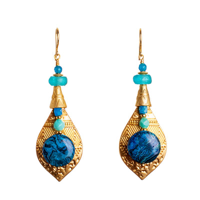 N°676 The Sound of Bright Water Statement Earrings