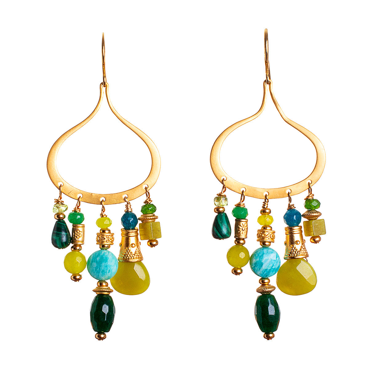 N°681 My Life in Peridot & Jade Statement Earrings