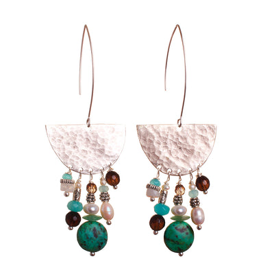 N°470 The Spirited Moonstone Shelter Statement Earrings