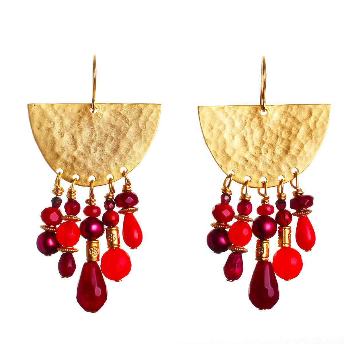 N°472 The 39 Shades of the Red Planet Statement Earrings