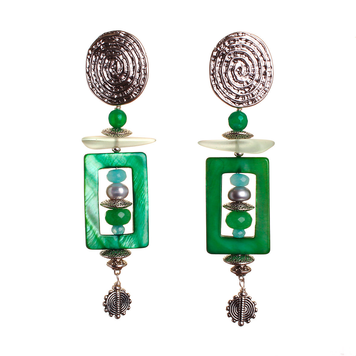N°476 The Emerald Ink Wunderkind Statement Earrings Statement Earrings