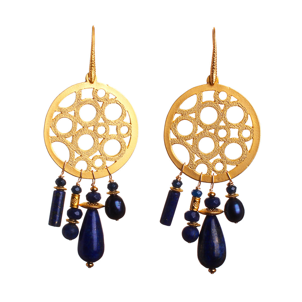 N°477 The Great Lapis Lazuli Escape Statement Earrings