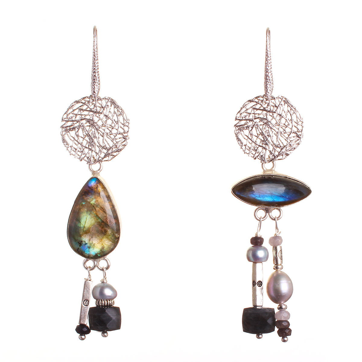 N°482 The Smooth Republic of Labradorite Statement Earrings