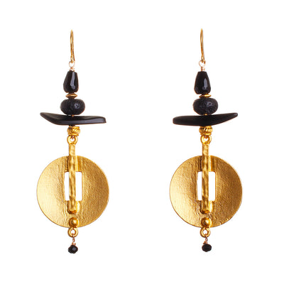 N°485 The Triassic Black Magic Statement Earrings