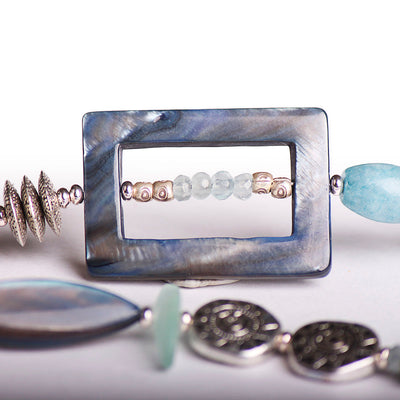 N°508 The Lost Coordinates of Aquamarine & Kyanite Statement Necklace