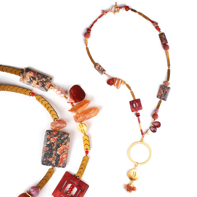 N°509 The Fabulous Society of Desert Rose Lovers Statement Necklace